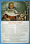 Click here to enlarge image and see more about item 13338: Vintage Ad: 1945 Union Carbide & Carbon Corporation