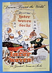 1945 Interwoven Socks with Two Sailors & Chinese Man