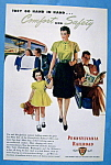 1946 Pennsylvania Railroad w/Woman Walking with Girl