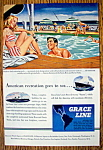Click to view larger image of Vintage Ad: 1946 Grace Line Cruise (Image1)