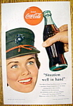 1953 Coca Cola (Coke) with a Woman Smiling