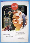 1953 Coca Cola with Woman Smiling