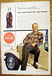 1954 Coca Cola (Coke) with a Boy Leaning Against a Car