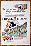 Vintage Ad: 1954 Lionel Trains