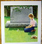 Click to view larger image of 1955 Rock Of Ages Of Girl Kneeling By Norman Rockwell (Image2)