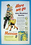 1955 Michigan (Water Wonderland) with Family Walking