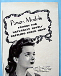 Click to view larger image of Vintage Ad: 1943 Kreml Shampoo w/ Powers Model (Image1)