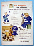1943 Pabst Blue Ribbon Beer with Shopper of Blue Ribbon