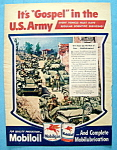 1945 Mobil Oil with The U. S. Army