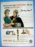 Click here to enlarge image and see more about item 13506: Vintage Ad: 1947 Wear Ever Aluminum Pressure Cooker