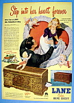 Click to view larger image of Vintage Ad: 1947 Lane Cedar Hope Chest (Image1)