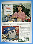 Click to view larger image of Vintage Ad: 1949 Proctor Toaster w/Yvonne De Carlo (Image1)