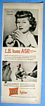 Vintage Ad: 1949 ASR Lighter with Lucille Ball