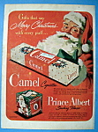 Click here to enlarge image and see more about item 13534: Vintage Ad: 1949 Camel Cigarettes with Santa Claus