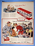 Click to view larger image of Vintage Ad: 1949 Post 40% Bran Flakes (Image1)