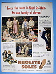 Click to view larger image of Vintage Ad: 1949 Neolite Soles (Image1)