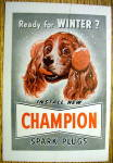 Click to view larger image of 1949 Champion Spark Plugs with Dog Wearing Earmuffs (Image2)