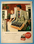 1949 Coca Cola (Coke) with Man Carrying Case