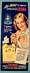 Click to view larger image of Vintage Ad: 1950 Fatima Cigarettes w/ Helen Davidson (Image1)