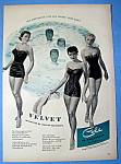 Vintage Ad: 1950 Velvet Swimsuits By Cole Of California
