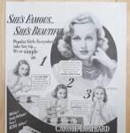 Click to view larger image of 1941 Lux Toilet Soap with Carole Lombard (Image2)