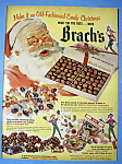 1952 Brach's Chocolates with Santa Claus Holding Box