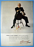 Click to view larger image of Vintage Ad: 1954 Smirnoff Vodka w/Sir Cedric Hardwicke (Image1)
