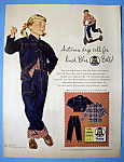 1954 Blue Bell Clothes with Little Girl with Thumb Up