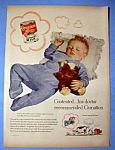 1954 Carnation Evaporated Milk with Baby Sleeping