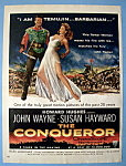 Vintage Ad: 1956 The Conqueror with John Wayne
