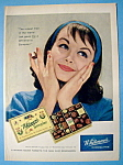 1958 Whitman's Sampler Chocolates with Woman Smiling