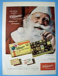 Click here to enlarge image and see more about item 13627: Vintage Ad: 1958 Whitman's Sampler with Santa Claus
