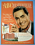 Vintage Ad: 1948 Chesterfield Cigarette w/Tyrone Power