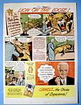 Vintage Ad: 1948 Camel Cigarettes w/ Clyde Gordon