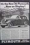 1935 Plymouth Cars w/Black & White Picture of Plymouth