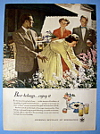 Click here to enlarge image and see more about item 13650: 1949 Beer Belongs with Showing Off The Flower Garden