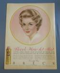 1960 Breck Hair Mist w/Brown Haired Woman