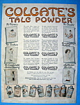 Vintage Ad: 1916 Colgate Talc Powder