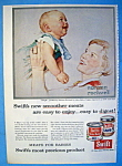 1956 Swift's Meats w/Mom & Baby By Norman Rockwell