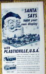 Click to view larger image of 1965 Plasticville U.S.A. w/Santa Looking at Village (Image2)