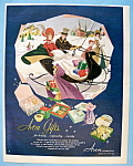 1951 Avon with Man & Woman Riding in a Sleigh
