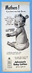 Vintage Ad: 1951 Johnson's Baby Lotion