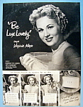 Vintage Ad: 1951 Lux Soap with Virginia Mayo