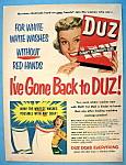 Vintage Ad: 1951 Duz Soap