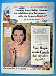 Click to view larger image of Vintage Ad: 1951 Camel Cigarettes w/ Marguerite Piazza (Image1)
