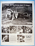 Vintage Ad: 1951 Jergens Lotion with Rhonda Fleming
