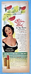 Vintage Ad: 1951 Max Factor Clear Red with Liz Taylor