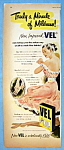 Click here to enlarge image and see more about item 13775: Vintage Ad: 1951 Vel