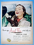 Click here to enlarge image and see more about item 13776: Vintage Ad: 1951 Pond's Angel Face Mirror Case