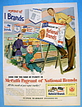 Click here to enlarge image and see more about item 13820: Vintage Ad: 1952 Super Market Institute